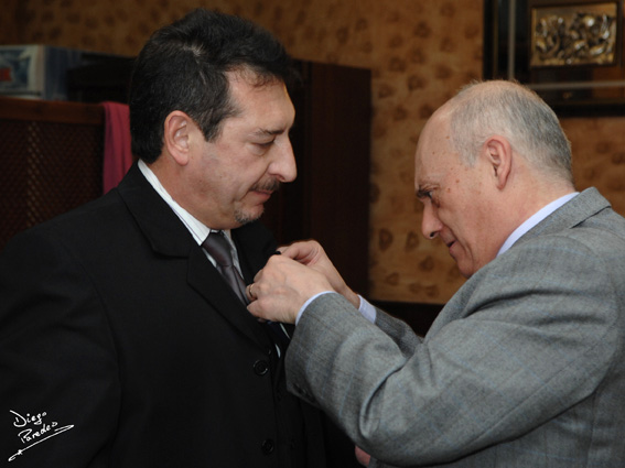 Homenaje de AGRAFI a Diego Paredes. 17 de Diciembre de 2011.