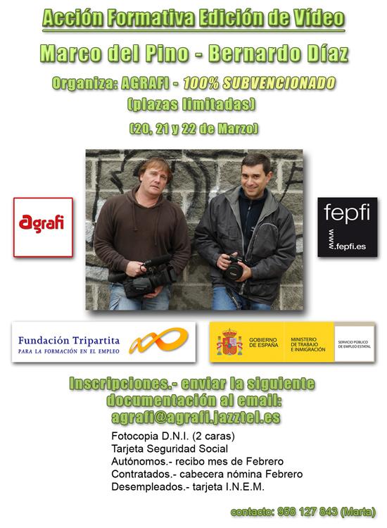 Acción Formativa de Edición de Video con Marco del Pino y Bernardo Díaz