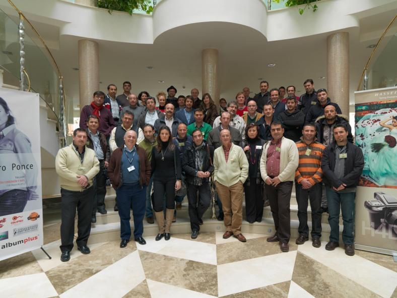 Grupo de asistentes al Taller de Pilar Navarro en Granada