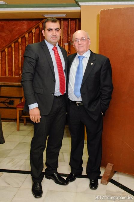 José Luis Pozo Abril, Presidente de la Junta Directiva de Agrafi 2012 - 2014 Junto a Elías Manrique.