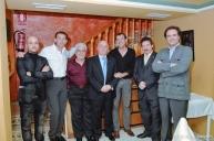 Miembros del primera Junta Directiva presidida por Elías Manrique.