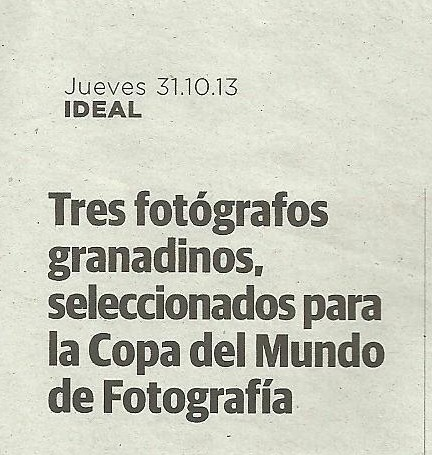 NOTICIA IDEAL. SOCIOS AGRAFI COPA MUNDO FOTOGRAFIA