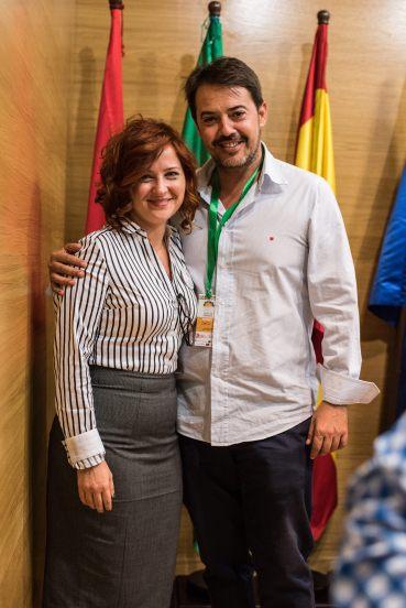 Jesús Vergara con Marta - Secretaria Técnica