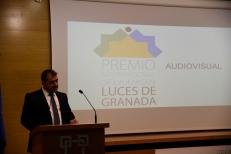 José Luís Pozo - Presidente de Agrafi da Bienvenida y apertura Gala Luces de Granada 2016