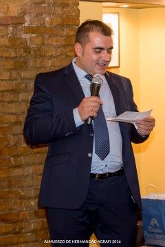 El Presidente, José Luís Pozo, comienza su discurso