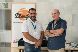 El Presidente de Agrafi con la empresa Dismafoto, Antonio Teno