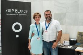 El Presidente de Agrafi con la empresa Zulo Blanco - Maribel Juan