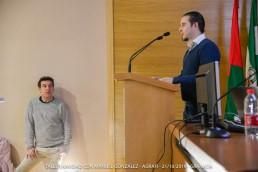 Presentación del ponente por parte del Presidente de Agrafi Diego Paredes Jaldo
